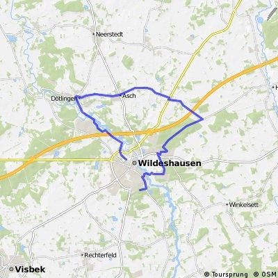Radtour am Huntepad für die Familie