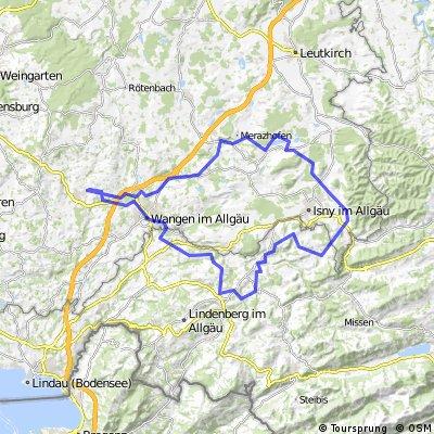 Von Amtzell aus rund um Isny: Rennrad-Tour über Siggener Höhe und Schweineburg