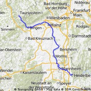 Heidelberg-Köln, Teil 1 CLONED FROM ROUTE 322472
