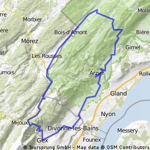 Arzier - Col de la Faucille - Col du Mrchairuz