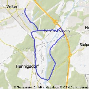 16 km Kurze Runde rund um Hennigsdorf m. Gartenlokal Weißer Schwan