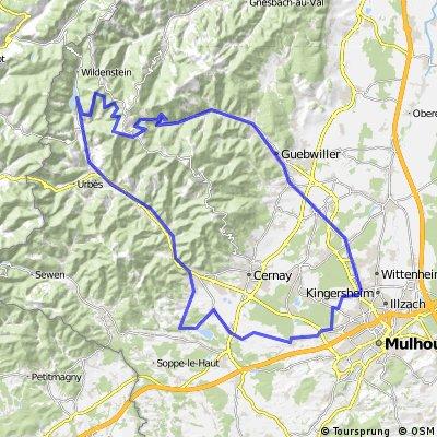 111km: Thann - Kruth - Markstein - Guebwiller