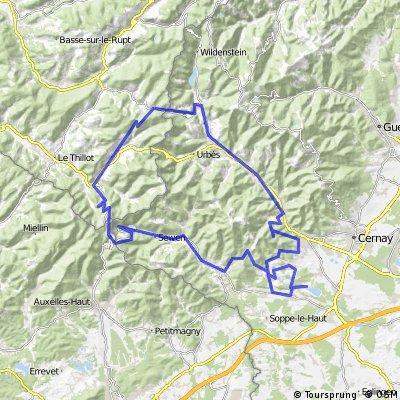 112km - Bourbach - Ballon d'Alsace - col d'Oderen - Plan Diebold -Rammersmatt