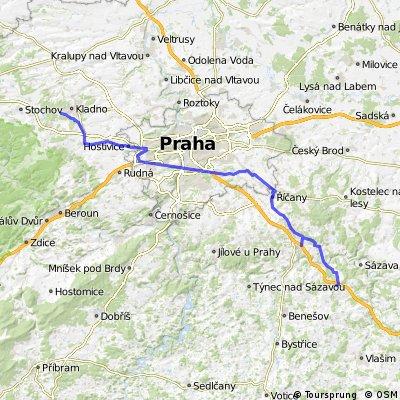 25.4.09 - Kladno, Praha Zličín, Praha Háje, Hostivař, Říčany, Mnichovice, Ondřejov, Chocerady, Ostředek.