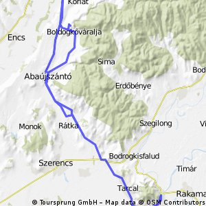 Bicós 2012, Tokaj, 5.nap - kicsi túra + odafele is tekerés