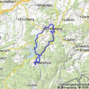 Flossgrabentour Eibenstock Bockau /Aue /Schneeberg/ Eibenstock