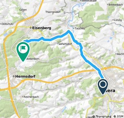 Gera Mohrenplatz - Meuschkens Mühle Eisenberger Mühltal