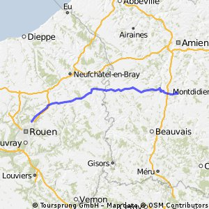 2009 Euro Tour -- Ride Day 22 — 18 July 2009 — 76230 Isneauville (Rouen) to 60120 Breteuil-sur-Noye