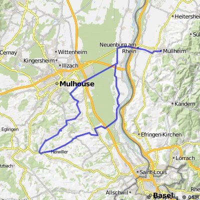 Tour ins nahe Elsass 93 KM/ 426 HM CLONED FROM ROUTE 409811