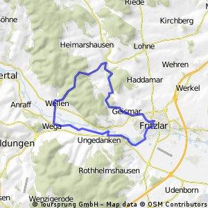 Fritzlar - Wega - Züschen- Fritzlar
