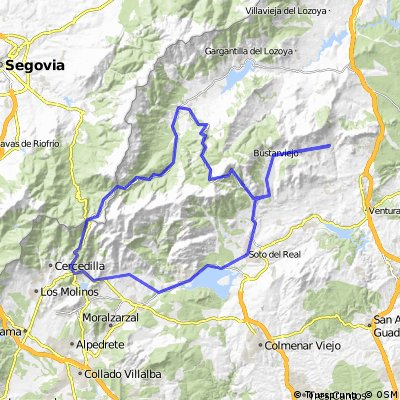 Valdemanco - La Morcuera - Rascafria -Cotos- Navacerrada-Miraflores- Valdemanco