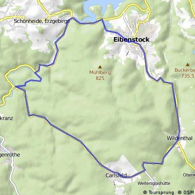 Eibenstock-Carlsfeld-Eibenstock über Wilzschhaus
