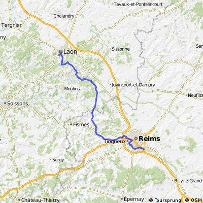 2009 Euro Tour -- Ride Day 25 — 21 July 2009 — 02000 Laon to 51500 Taissy (Reims)