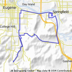 Cycling routes and bike maps in and around Eugene Bikemap Your