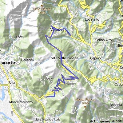 Passo di Valcava (Auffahrt Sant' Omobono Terme)