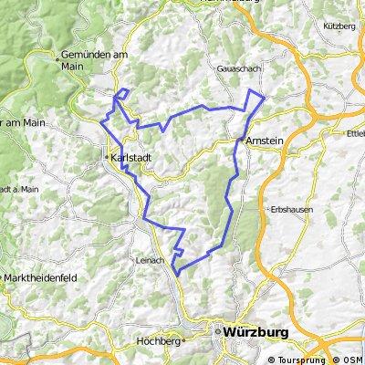 MTB Tour Schwebenried-Veits-Edelweiß-Homburg-Schwebenried