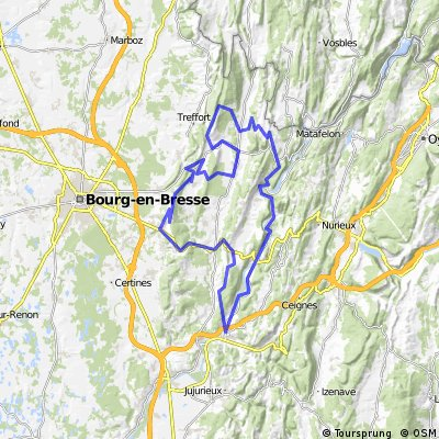 Parcours dans le Bugey CLONED FROM ROUTE 1465403