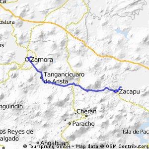 Zacapu - Zamora (por Carapan)