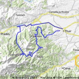Tour westlich von Thuir