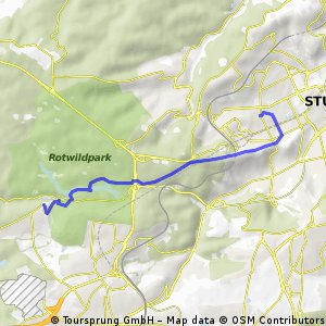 Vom relexa Waldhotel Schatten nach Stuttgart- West