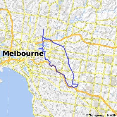 River, Creek & Rail track loop in Melbourne