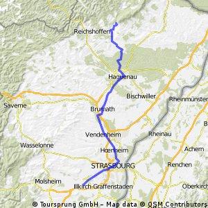 Climbach-Hagenau-brumath-Strasbourg-Entzheim