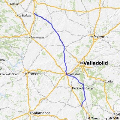 Etapa 19 Villamañán-Arévalo