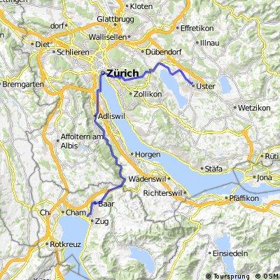 Arbeitsweg Uster-Zug (ZH-Bellevue)