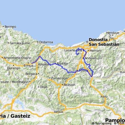 Variant Vuelta al País Vasco | Etapa 3:  Eibar - Binibilondo