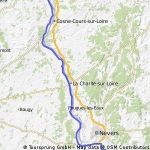 3eme étape : nevers-belleville/loire