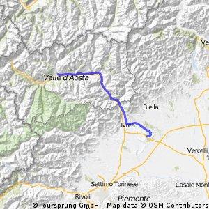 Aosta to Lago