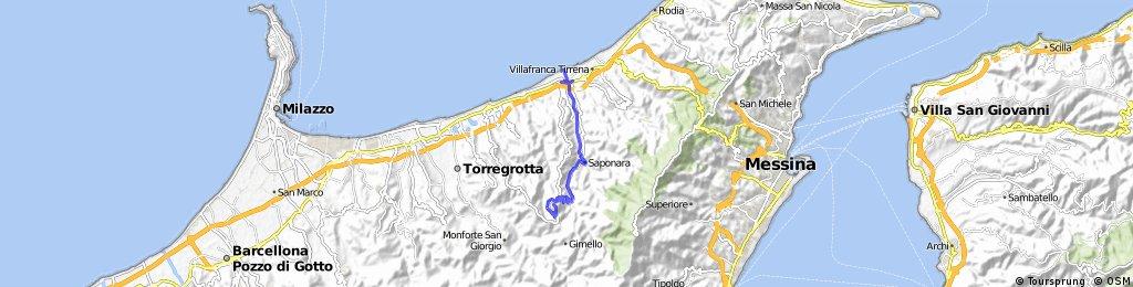 Rometta Marea - Saponara - Santo Pietro - Lorenti - Rometta Superiore