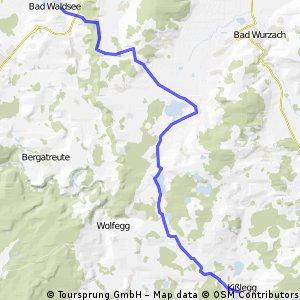 Bad Waldsee-Kißlegg und zurück CLONED FROM ROUTE 1524906