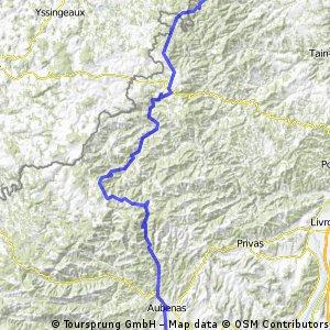 Raid Massif Central, 3ème étape : Vocance - Vogüé