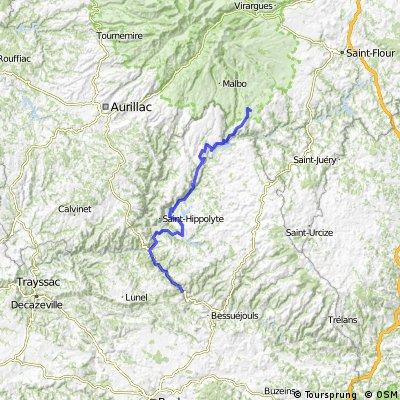 Raid Massif Central, 9ème étape : Estaing Gorges du Lot - Pierrefort