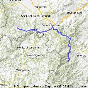 Raid Massif Central, 2ème étape : St Bonnet le Château -Vocance