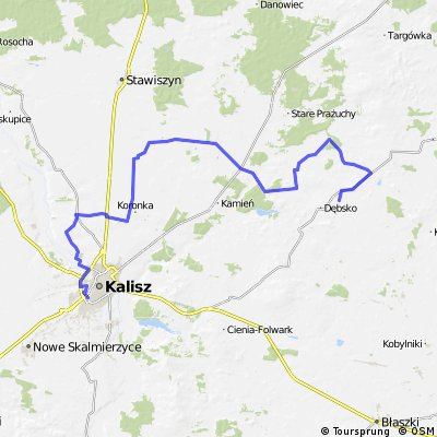 Kalisz - Kokanin - Tykadłów - Morawin - Zakrzyn - Lisków