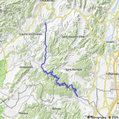 Raid Massif Central, 4ème étape : Vogüé - St Martin d'Ardèche
