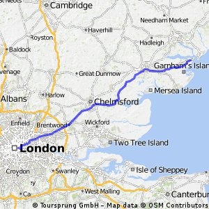 Day 1 - London to Harwich