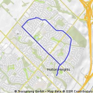 Holton Heights 7.5KM Loop