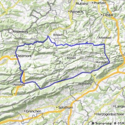 Nunningen-Hauenstein-Moutier-Delemont-Laufen-Nunningen