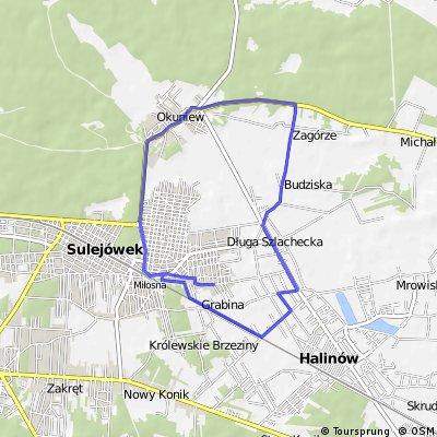 Ranny trening - Okuniew - Zagórze - Grabina 18 km