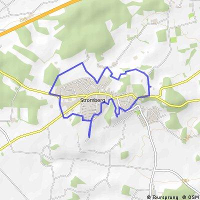 """Aussichtspunkt-Runde """"Höhenweg"""" um Stromberg"""