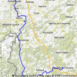 Libramont - Bouillon - Gedinne - Dinant - Namur