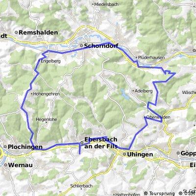 Sulpach-Börtlingen-Rattenharz-Schorndorf-Winterbach-Baltmannsweiler-Reichenbach-Sulpach