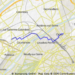 Velotaf Courbevoie -> Clichy