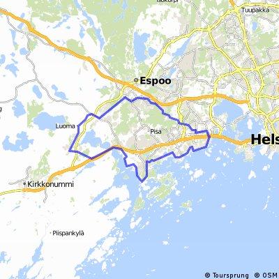 Espoo circle via rantaraitti CLONED FROM ROUTE 244449