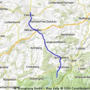 Zwickau - Auersberg - Zwickau CLONED FROM ROUTE 466709