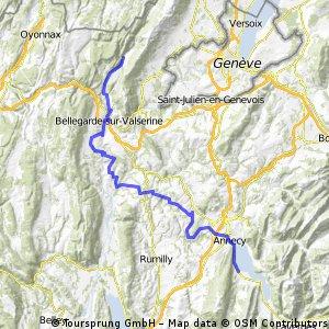 Dag 02 Etappe 1: Sévrier - Chézery-Forens