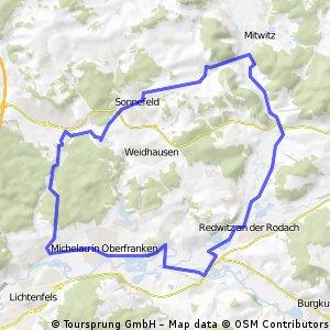 Neuensorg - Schney - Schwürbitz - Hochstadt - Redwitz Mitwitz - Sonnefeld - Neuensorg